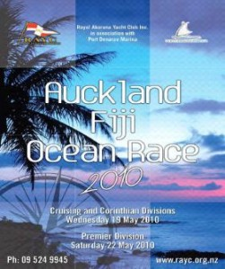 Auckland to Fiji Yacht Race 2010 Poster